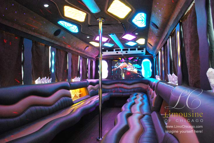 30 passenger limo party bus Chicago
