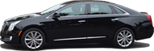 Reserve limousine travel in 3 passenger Cadillac Deville Sedan in Chicago