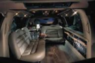 10 Passenger Lincoln Stretch interior of limo