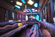 30 Passenger Limo Bus interior of limo