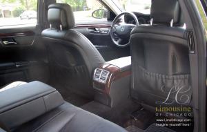 limo medcedes s550 interior