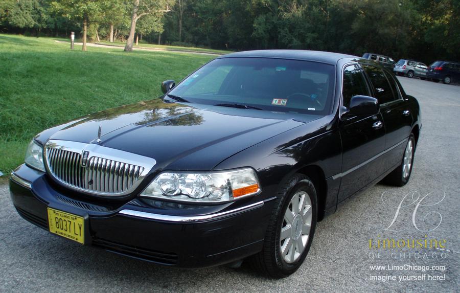 limousine town car black