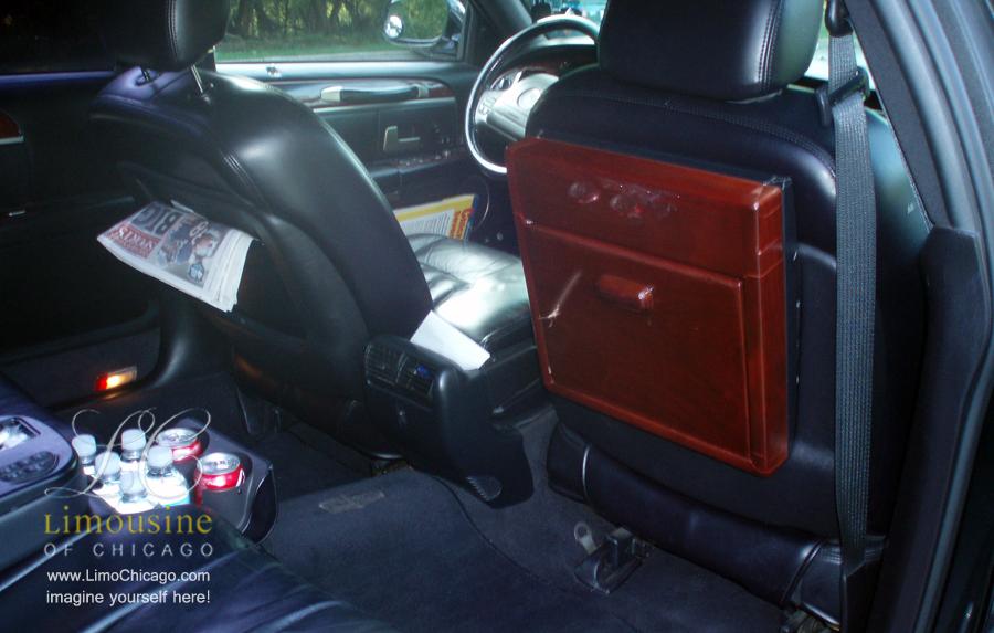 limousine towncar back seat