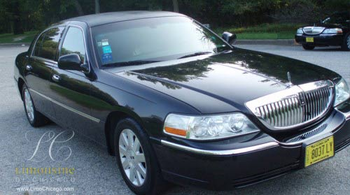 Lincoln Town Car black limousine