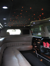 14 Passenger Ford Excursion interior of limo